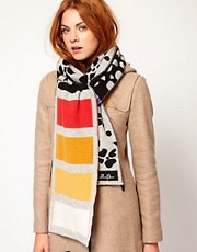 Electronic Sheep Wool Graphic Scarf