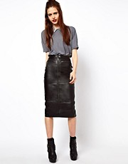 ASOS Biker Skirt in Leather