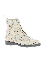 Dr.Martens Kensington Evan Buff Wild Flowers Canvas Boot