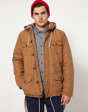 Image 1 ofSolid Jacket with Four Pockets &amp; Hood