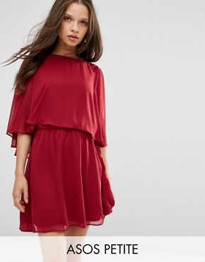 ASOS PETITE Crop Cape Mini Skater Dress
