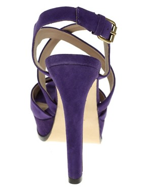 Image 4 ofPour La Victoire Aria Suede Slingback Heeled Shoes