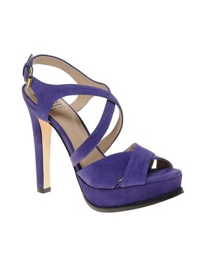 Image 1 ofPour La Victoire Aria Suede Slingback Heeled Shoes