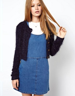 Image 1 ofASOS Fluffy Cropped Cardi