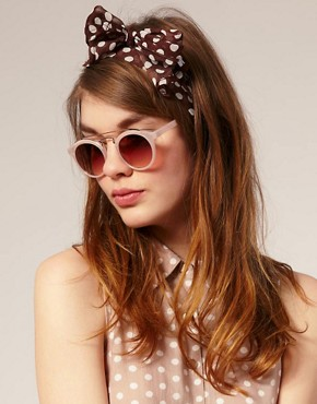 Image 3 ofASOS Round Sunglasses With Metal Bridge Detail