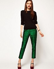 ASOS Spot Jacquard Trousers