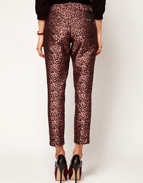 Image 2 ofASOS Spot Jacquard Trousers