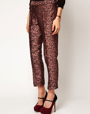 Image 4 ofASOS Spot Jacquard Trousers