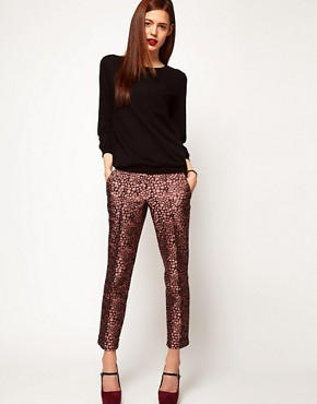 Image 1 ofASOS Spot Jacquard Trousers