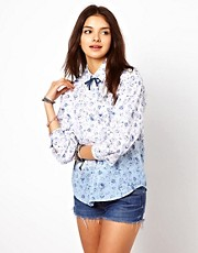 Chandelier Dip Dye Floral Shirt