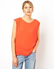 Oasis Pleat Back Chiffon Top