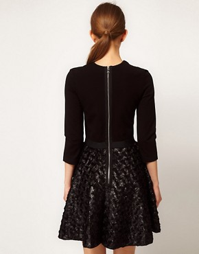Image 2 ofMarkus Lupfer Skirt Circle Dress With Star Brooch