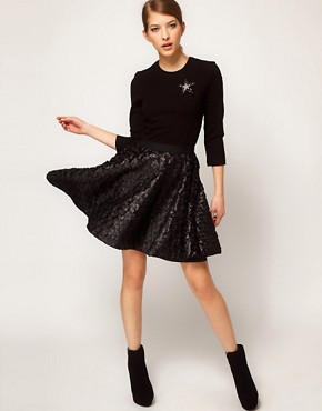 Image 4 ofMarkus Lupfer Skirt Circle Dress With Star Brooch