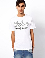 Camiseta You Only Live Once exclusiva para ASOS UK de BePriv
