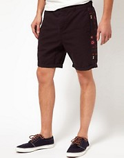 ASOS Chino Shorts With Print Panel