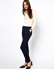 ASOS Trousers In Ponte Check
