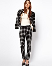 ASOS Pants In Ponte Check