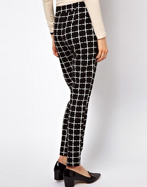 Image 2 ofASOS Trousers In Ponte Check