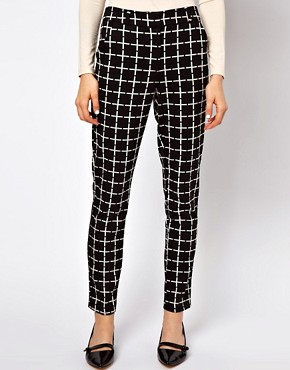 Image 4 ofASOS Trousers In Ponte Check
