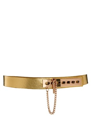 Image 1 ofASOS Link And Plate Detail Waist Belt
