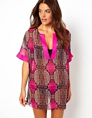 Ted Baker Snake Print Beach Cover Up
