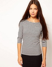People Tree Organic Cotton Stripe Pocket T Shirt