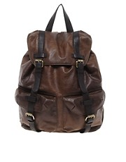 ASOS Leather Look Backpack