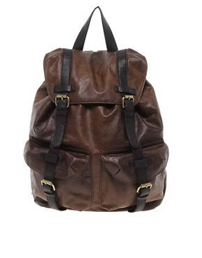 Image 1 ofASOS Leather Look Backpack