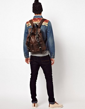 Image 3 ofASOS Leather Look Backpack