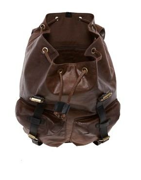 Image 4 ofASOS Leather Look Backpack