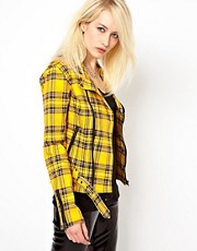 Tripp NYC Wild Child Tartan Biker Jacket