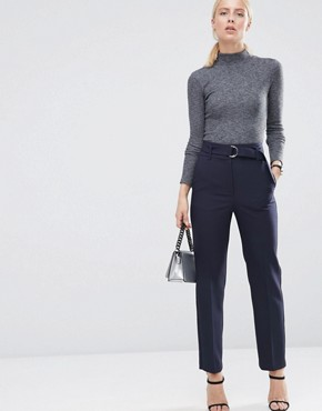 ASOS Highwaist Trousers With Belt Detail