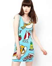 Lazy Oaf Dawg Vest Dress