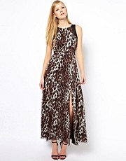 Karen Millen Maxi Dress in Leopard Print