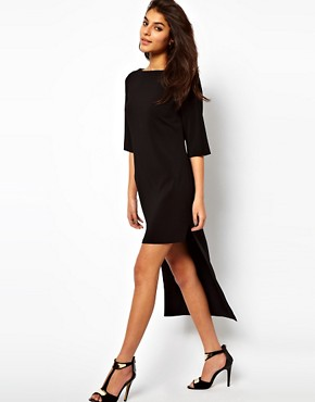 Image 1 ofASOS Shift Dress With Stepped Hem