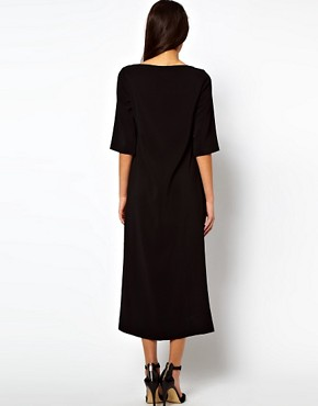 Image 2 ofASOS Shift Dress With Stepped Hem
