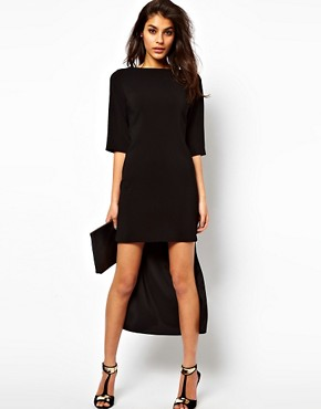 Image 4 ofASOS Shift Dress With Stepped Hem