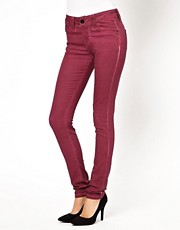 ASOS  Coated Skinny Jeans in Damson