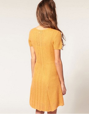 Image 2 ofASOS Knitted Dress with Stitch Detail