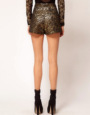 Image 2 ofASOS Gold Jacquard Short