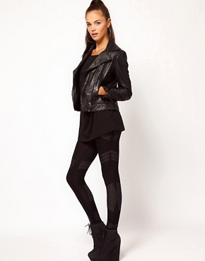 Image 1 ofRiver Island Studded Legging