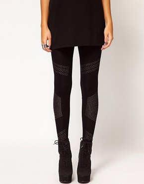 Image 4 ofRiver Island Studded Legging