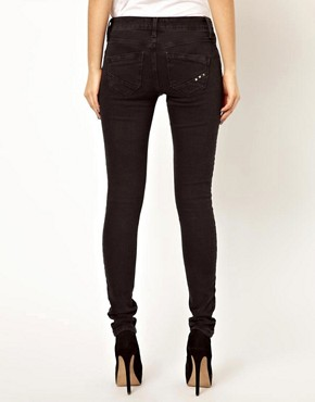 Image 2 ofRiver Island Amelie Super Skinny In Washed Black