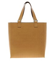 Peter Jensen Leather Rabbit Embossed Tote