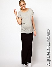 ASOS Maternity Exclusive Maxi Skirt With Foldover Waistband