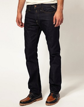 Image 1 ofReplay Jeans Waitom Straight Rinse Wash