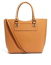 River Island Hard Leather Tote