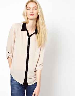 Image 1 ofSplendid Contrast Trim Shirt
