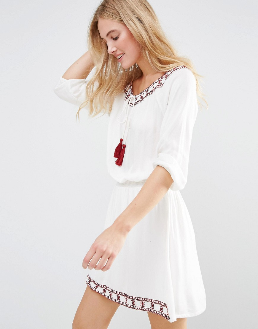 First & I Festival Dress - White