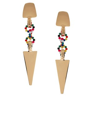 Image 1 ofASOS Arrow And Bead Link Earrings